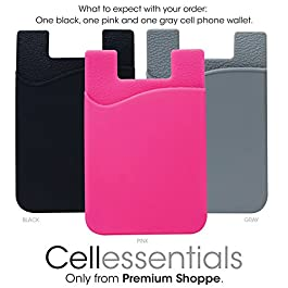 Cell Phone Wallet by Cellessentials: (for Credit Card & Id) | Works with Almost Every Phone | iPhone, Android & Most…