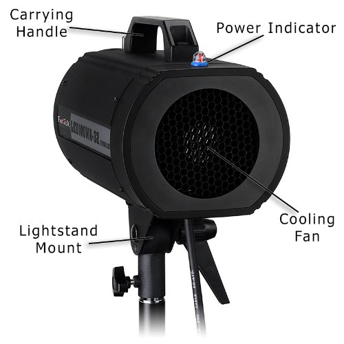 Fotodiox Pro LED100WA-32 Tungsten Studio LED, High-Intensity LED Studio Light for Still and Video - with Dimmable Control, 12V AC Power Adapter, Light Stand bracket, CRI > 85 by Fotodiox (Image #6)