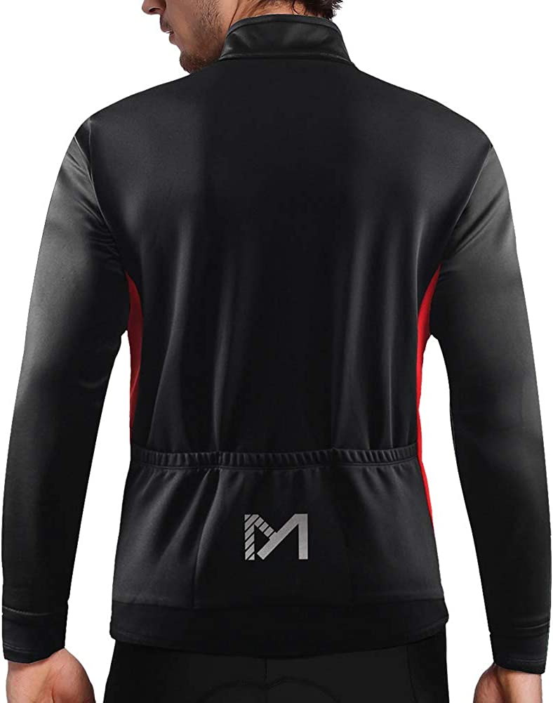 Winter Sports Jerseys Windproof Softshell Breathable Reflective Bike Jacket for Running Outdoors MEETYOO Men/'s Thermal Cycling Jackets