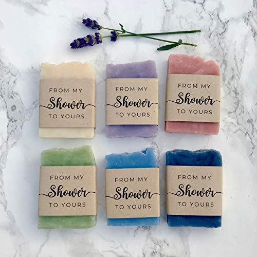 From My Shower to Yours, Mini Soap Favors for Baby or Bridal Party, 24 pack, Vegan Natural