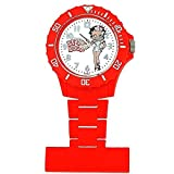Betty Boop White Photo Dial Red Ladies Nurses Fob Watch BTY031A