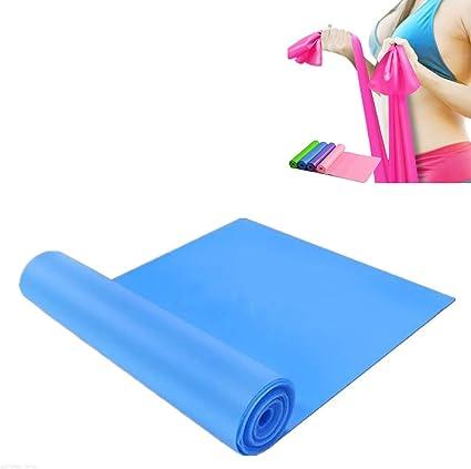 Elastic Yoga Pilates Rubber Stretch Resistance Exercise Fitness Band Belt Strap