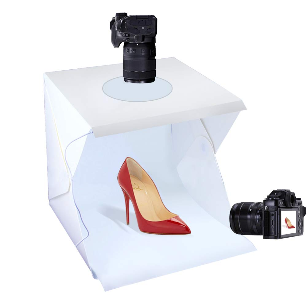 Mini Photo Studio Tent Jewelry Light Box Kit, SENLIXIN Portable Foldable Small Home Photography Studio Light Box Booth Shooting Tent with LED Light Strips - With 6 Color Back (20x20x20cm Photo Studio) 4332046527