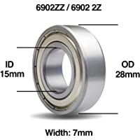 2x 6805-ZZ Deep Groove Metal Sealed Ball Bearing 25mm x 37mm x 7mm Shield 2Z New