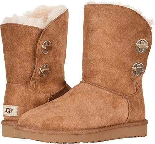 Ugg Short Classic Boots Chestnut (UGG Womens Classic Short Turnlock Boot, Chestnut, Size 9)