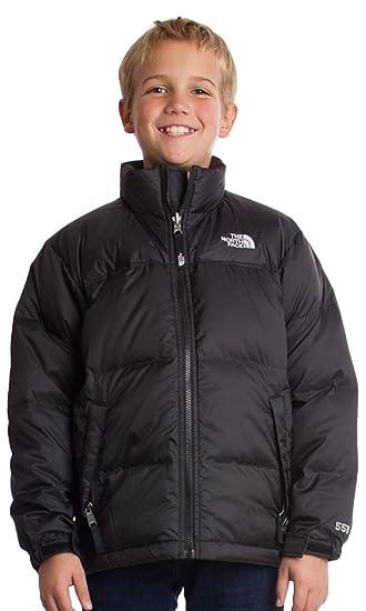 5a9f47344479e Amazon.com: The North Face Nuptse Jacket Boy's TNF Black XXS (5 ...