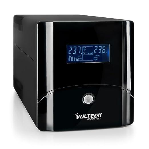 5 opinioni per VulTech UPS1500VA-PRO Line Interactive Gruppo di Continuità con LCD, Nero