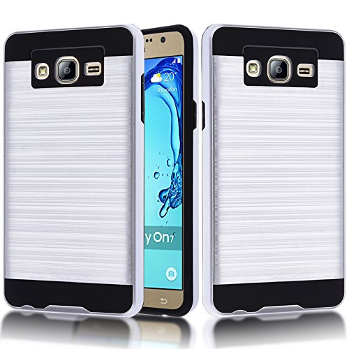 Slim Shockproof Case for Samsung Galaxy On7 (Silver) - 4