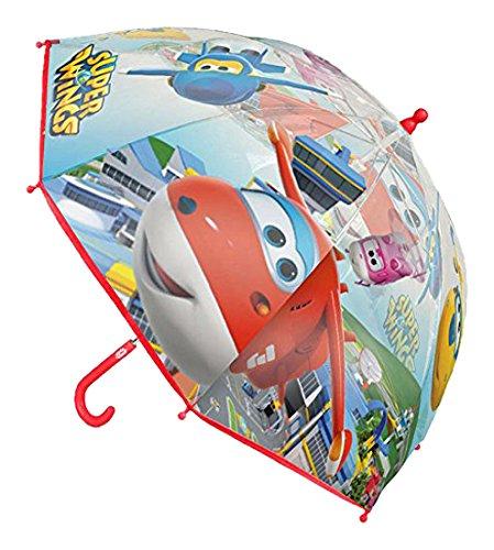Cerdá Super Wings, Paraguas para Niños, Blanco (Blanco 00), One Size (Tamaño del fabricante:Única) 2400000339
