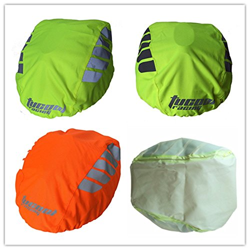 Tucool Racing High Visibility Night Visual Bicycle Bike Helmet Cover Rain Cover Waterproof