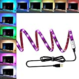 TV Backlight Kit Bias Lighting USB Led Strip RGB for TV Desktop PC, ANSCHE Stick-on Anyplace LED Rope Color Changing Background Ambient Lighting Waterproof Decoration Mood Lights