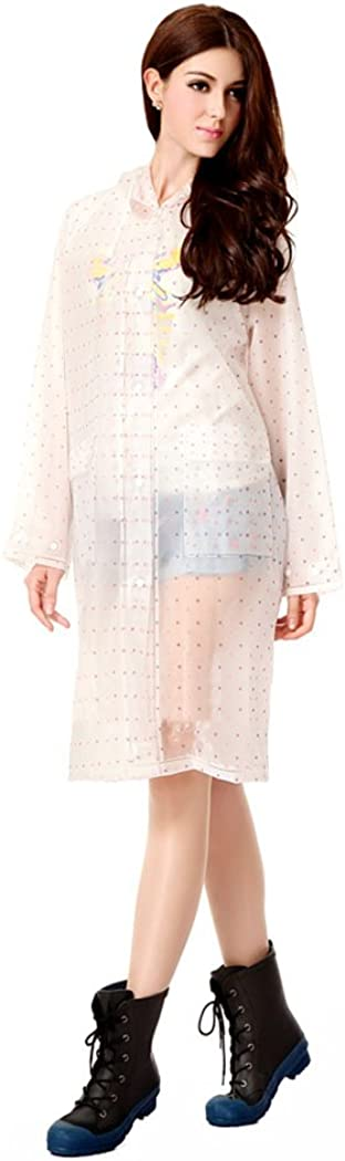 Women Hooded Raincoat Fast Dry Cute Waterproof Lightweight Rainwear