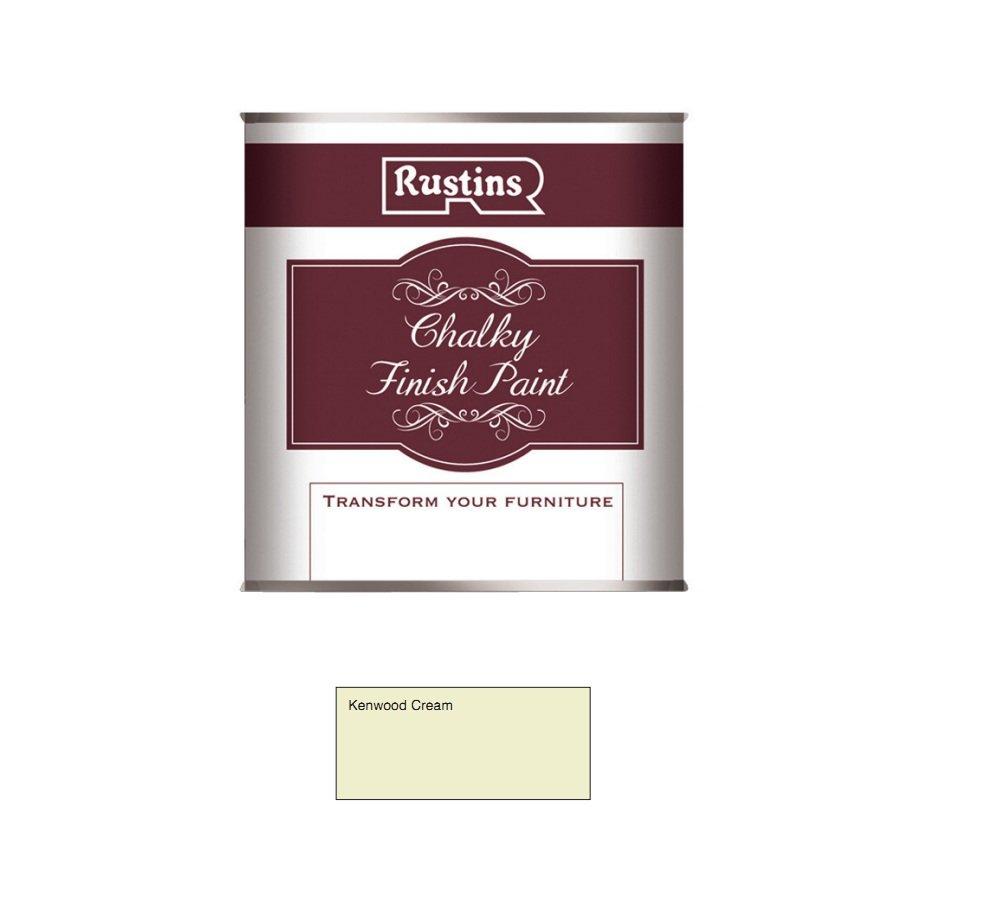 Rustins CHAPC500 Chalky Finish Paint Kenwood Cream 500ml, 250ml