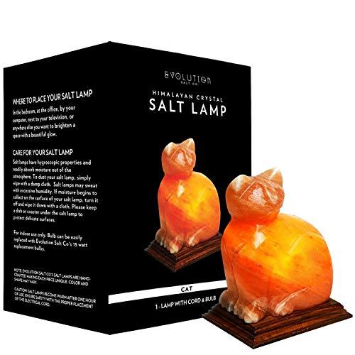 - Evolution Salt - Cat Crystal Himalayan Salt Lamp 4-6 lbs.