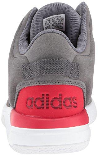 adidas Männer CF Revival Mid Basketballschuh Graue Fünf / Graue Fünf / Scharlachrot