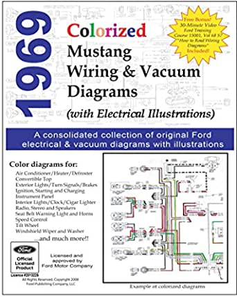 1969 Colorized Mustang Wiring and Vacuum Diagrams, Motor Company, Ford,  eBook - Amazon.comAmazon.com
