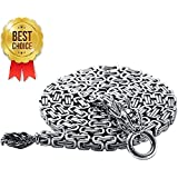 Junda Outdoor Full Steel Self Defense Hand Bracelet Chain EDC Whip Necklace Waist Chain
