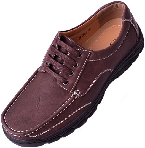 Boat Brown Deck Lace Mens Summer Shoes Up Smart Loafers Casual qR6WXWwxFa