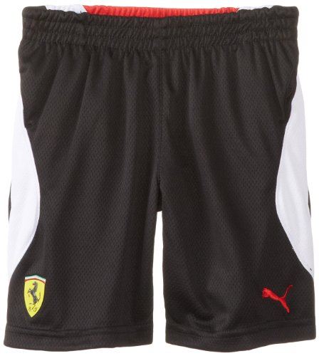 PUMA Little Boys' Ferrari Short, Black, 6