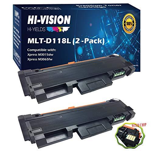 HI-VISION HI-YIELDS Compatible MLT-D118L Toner Cartridge Replacement for Samsung Xpress M3065FW M3015DW (Black, 2-Pack) ()