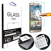 "ANGELLA-M HTC One M9 Plus Screen Protector, HD Clear Tempered Glass Screen Protectors for HTC One M9 Plus / M9+ 5.2"") [Transparent]"