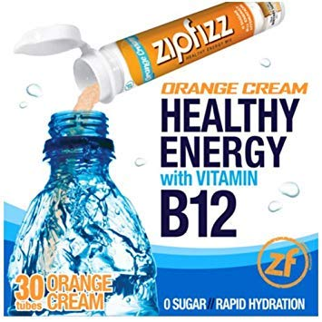 Zipfizz Healthy Energy Drink Mix, (Orange Cream, 30-Count)