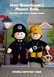 Jean Greenhowe's Mascot Dolls Knitting Pattern Booklet: Ten Dolls with Knitted Display Stands
