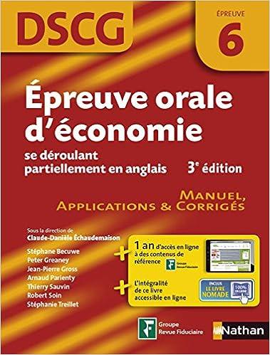 Lire Épreuve orale d'économie se déroulant partiellement en anglais pdf, epub