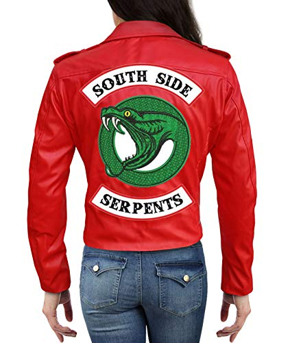 Riverdale Cheryl Blossom Southside Serpents Jacket in Red (Small)