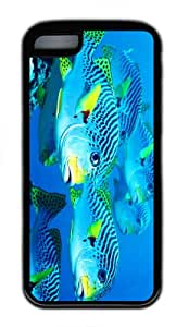 funny cases underwater fish world TPU Black Case for iphone 5C