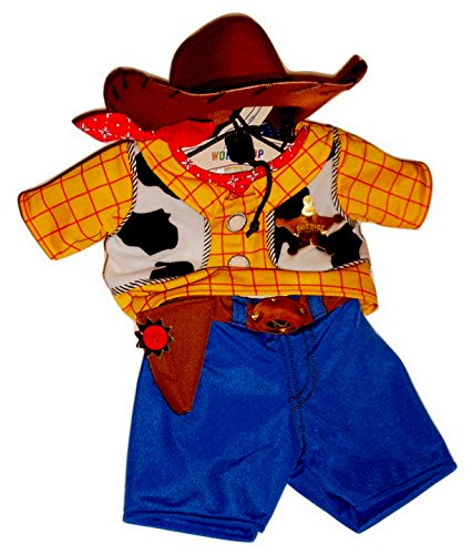 Build a Bear Woody Costume 3 pc. Teddy Size Toy Story Cowboy Outfit]()