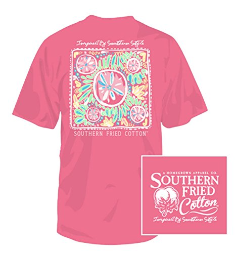Southern Fried Cotton Youth Beach Party 2 Short Sleeve Cotton T-Shirt-Pink Jam-Small