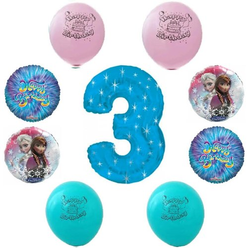Disney frozen happy 3rd birthday party balloon decoration for 7p decoration