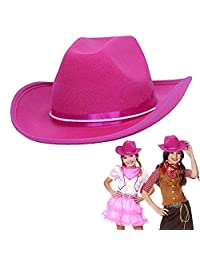 Cowboy Cowgirl Pink Hat Child Country Pink Cowboy Felt Costume Hat