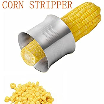 Corn Stripper, Upgraded Stainless Steel Corn Stripping tool, Manual Cutter or Zipper, Corn Peeler