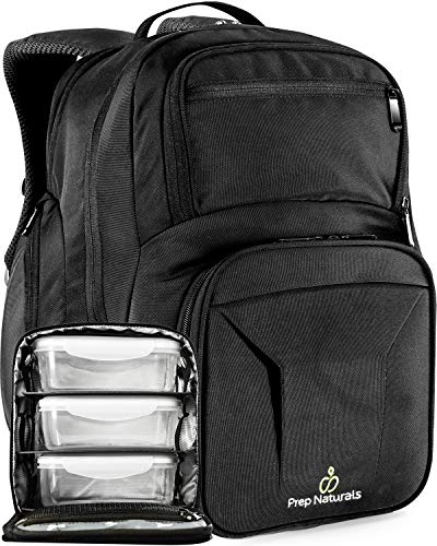 Meal Prep Backpack with Meal Prep Containers - Meal prep Bag Meal Prep Lunch Box - Meal Prep Backpack Lunch box Meal Prep Lunch bag Lunch bag with containers Insulated Lunch bag for men Lunchbox Tote -