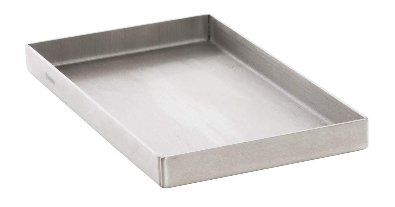 CLP Plaque /à Cuisson en Acier Inoxydable pour Grille /Électrique /à Gaz ou /à Charbon Plaque /à Grillade avec Surface Lisse acier inoxydable 26x44,5x3,6 cm