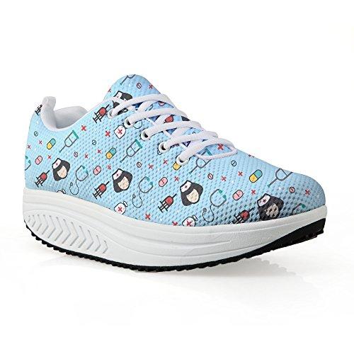 Fashion Casual Wedge Women Bigcardesigns Nurse Walking Fitness Shoes Platform Sneaker THwxdqBCg