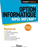 Option informatique MPSI-MP/MP* - Conforme au nouveau programme