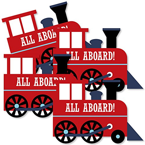 Railroad Party Crossing - Train Decorations DIY Steam Train Birthday Party or Baby Shower Essentials - Set of (Train Centerpieces)