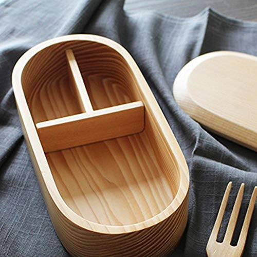 Wooden Lunch Box Japanese Bento Box Sushi Portable Food Cont