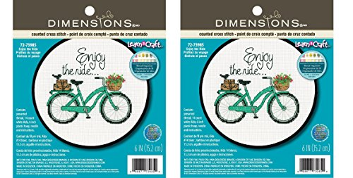 Dimensions Crafts 72-73985 Adult Learn a Craft Counted Cross Stitch, Enjoy The Ride (Parent)