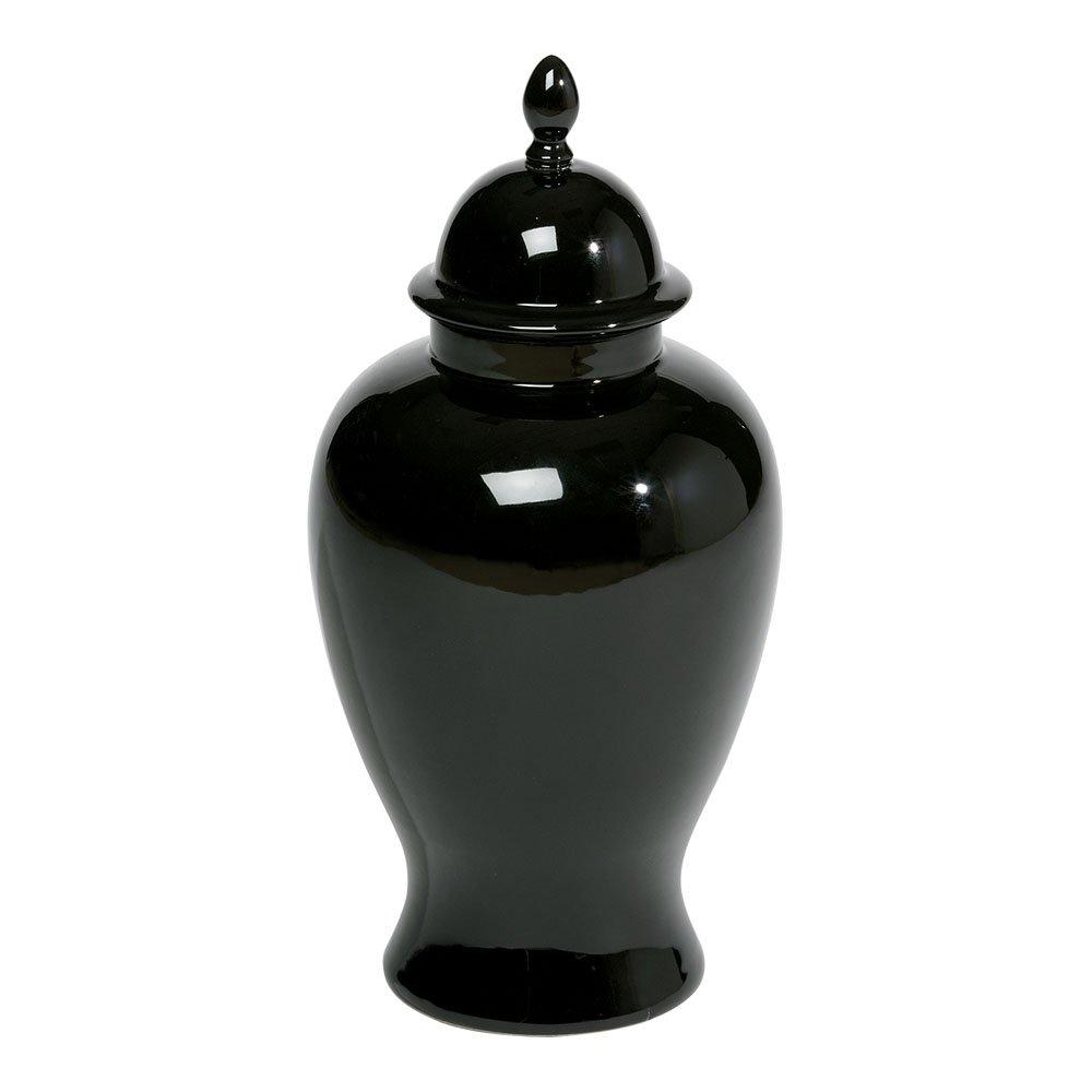 Ethan Allen Black Temple Jar, Small by Ethan Allen
