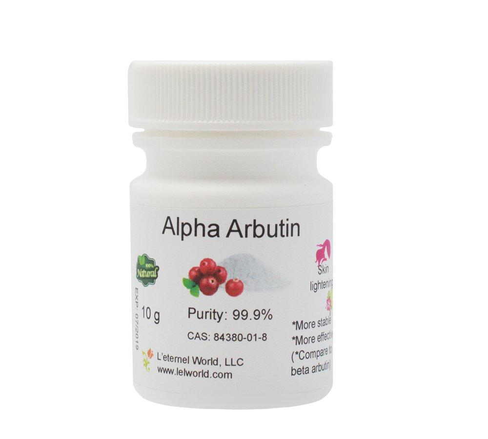 Pure Alpha-Arbutin Powder, 10 g, Quality Guaranteed! Good for Skin Lightening