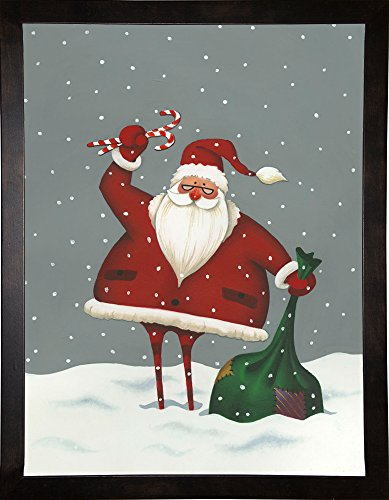 Frame USA MARWIL109928 Santa's Bag of Toys Print by Margaret Wilson, 37.25' x 28.25', Cafe Espresso