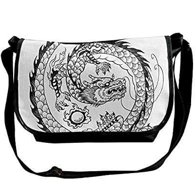 64edb79da6 Lovebbag Ethnic Asian Japanese Swirled Dragon Pattern Folk Heritage  Spiritual Illustration Decorative Crossbody Messenger Bag durable