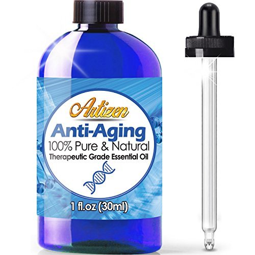 Artizen Anti-Aging blend Essential Oil (100% PURE & NATURAL - UNDILUTED) Therapeutic Grade - Huge 1oz Bottle - Blended W/Frankincense, Sandalwood, Lavender, Myrrh, Rose Geranium, Tea Tree, Lemon