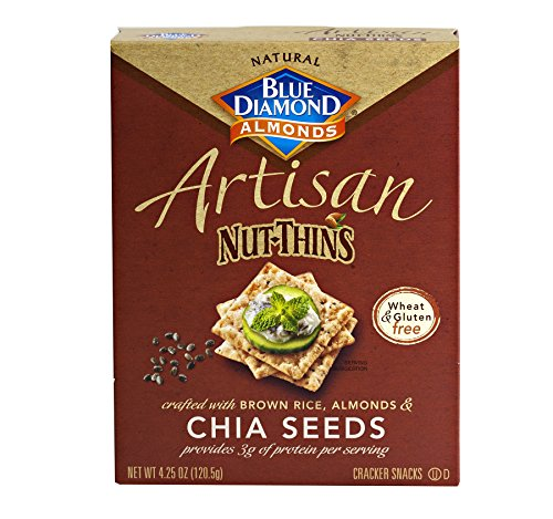 Gluten Free Artisan Nut-Thins Cracker Snacks with Chia Seeds (Pack of Two - 4.25 Oz. (Best Diamond Chia Seeds)