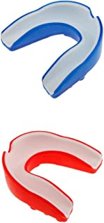 Homyl 2pcs Protège-dents Guard Bouche en Silicone pour Protection Dents aux Sports Hockey, Rugby, MMA, Boxe et Sport de Contact pour Adultes