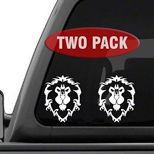 (World of Warcraft Alliance - 2PK - Decal Sticker for Car Window, Laptop and More. 4